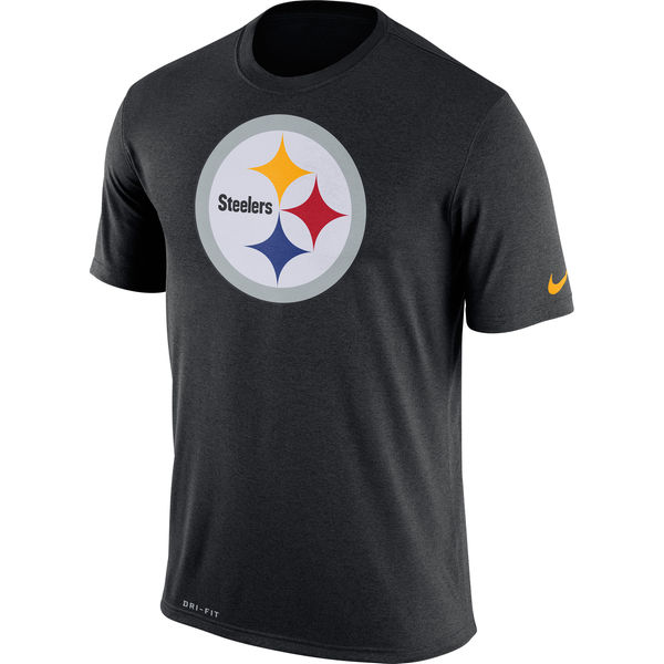 Pittsburgh Steelers Nike Legend Logo Essential 3 Performance T-Shirt Black