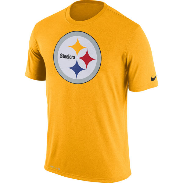 Pittsburgh Steelers Nike Legend Logo Essential 3 Performance T-Shirt Gold