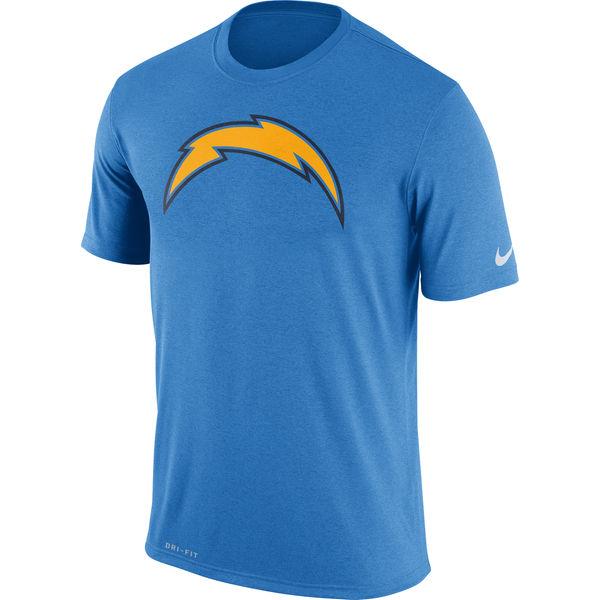 San Diego Chargers Nike Legend Logo Essential 3 Performance T-Shirt Powder Blue