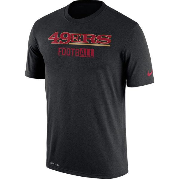 San Francisco 49ers Nike All Football Legend Performance T-Shirt Black