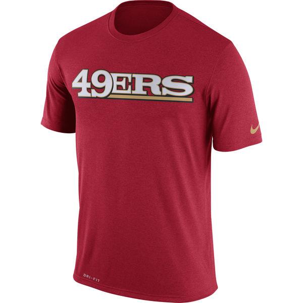 San Francisco 49ers Nike Legend Wordmark Essential 3 Performance T-Shirt Scarlet