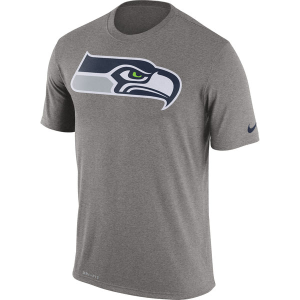 Seattle Seahawks Nike Legend Logo Essential 3 Performance T-Shirt Charcoal