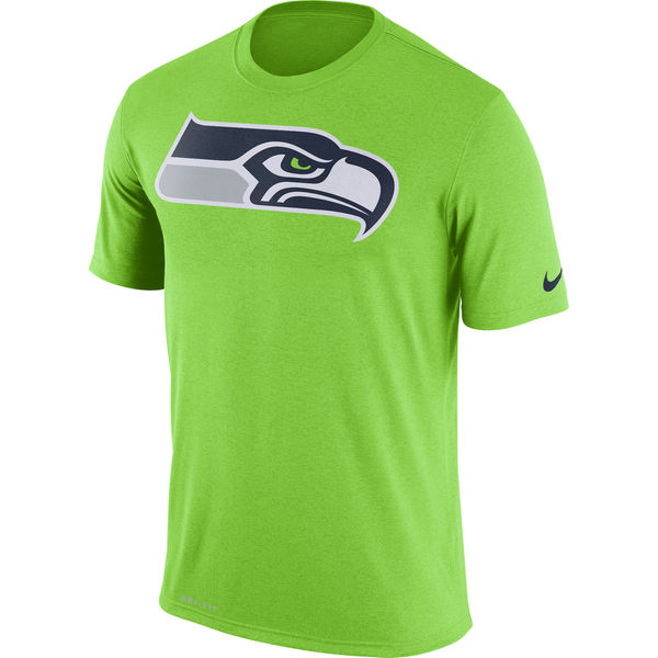 Seattle Seahawks Nike Legend Logo Essential 3 Performance T-Shirt Neon Green