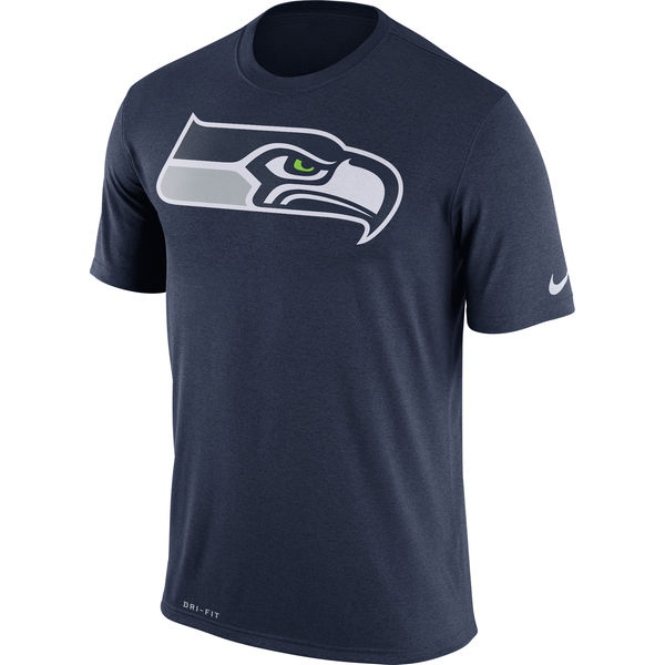 Seattle Seahawks Nike Legend Logo Essential Performance T-Shirt Navy