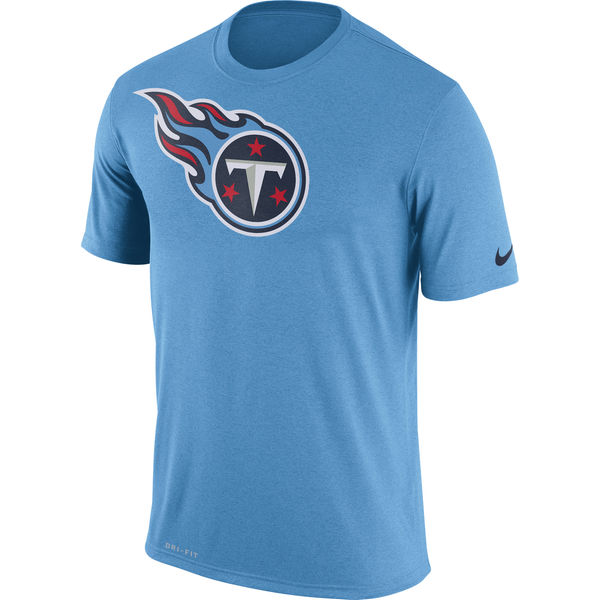 Tennessee Titans Nike Legend Logo Essential 3 Performance T-Shirt Light Blue