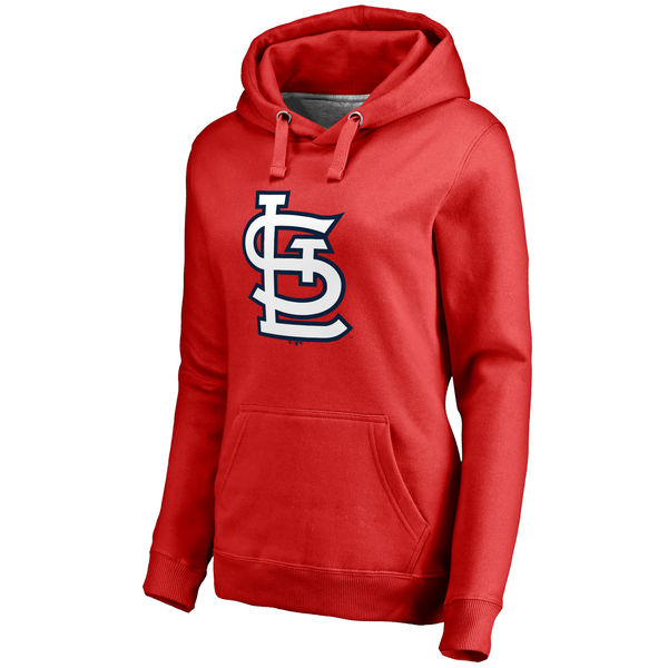 St. Louis Cardinals Women's Plus Sizes Primary Team Logo Pullover Hoodie Red