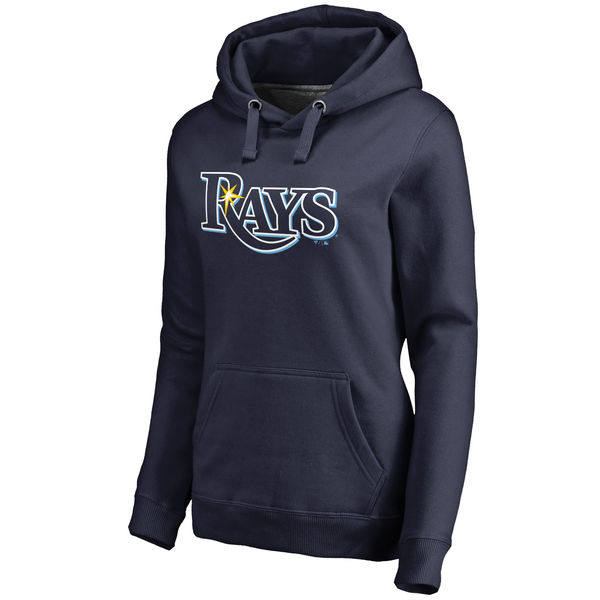 Tampa Bay Rays Women's Team Color Primary Logo Pullover Hoodie Navy