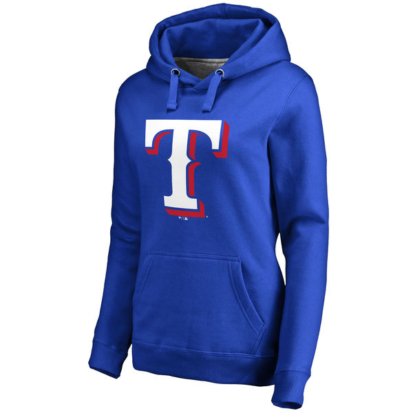 Texas Rangers Women's Team Color Primary Logo Pullover Hoodie Royal