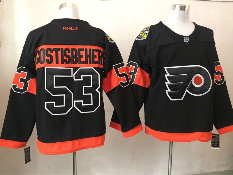 Flyers 53 Shayne Gostisbehere Black 2017 Stadium Series Reebok Jersey