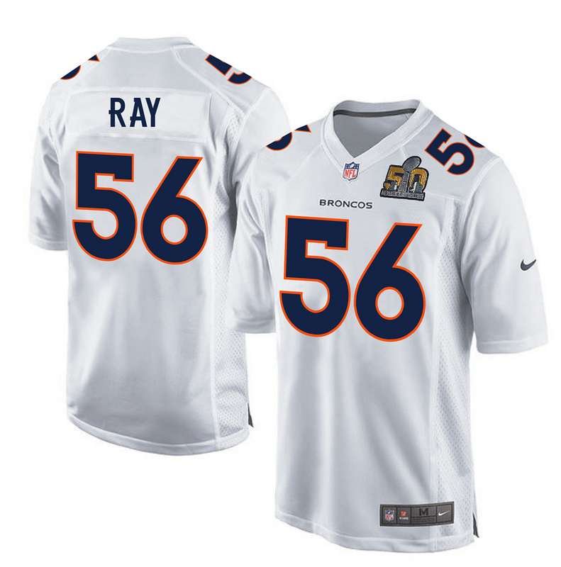 Nike Broncos 56 Shane Ray White Youth Super Bowl 50 Bound Game Event Jersey