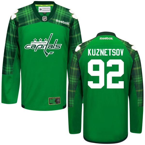 Capitals 92 Evgeny Kuznetsov Green St. Patrick's Day Reebok Jersey