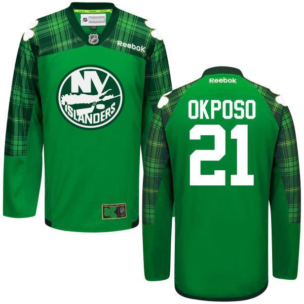 Islanders 21 Kyle Okposo Green St. Patrick's Day Reebok Jersey