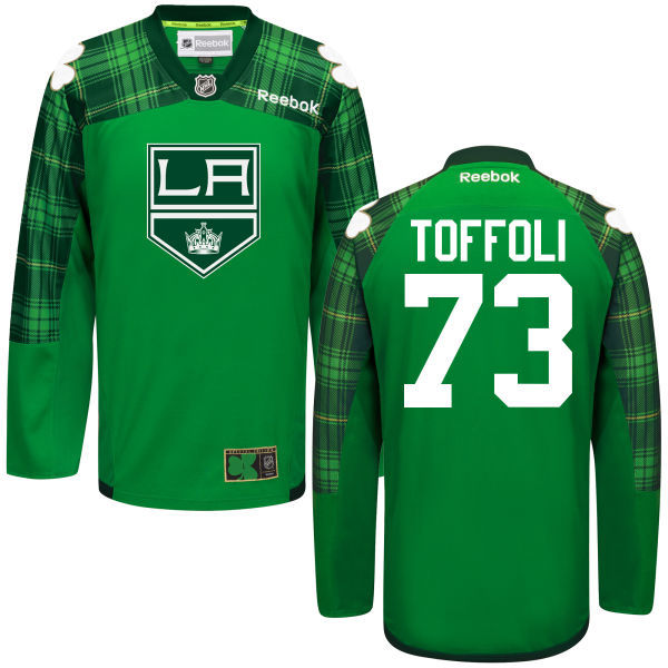 Kings 73 Tyler Toffoli Green St. Patrick's Day Reebok Jersey