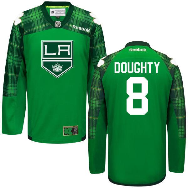 Kings 8 Drew Doughty Green St. Patrick's Day Reebok Jersey