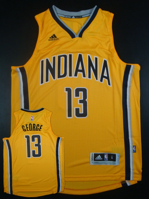 Pacers 13 Paul George Yellow Swingman Jersey