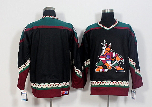 Coyotes Blank Black CCM Jersey