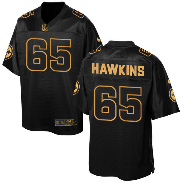 Nike Steelers 65 Jerald Hawkins Pro Line Black Gold Collection Elite Jersey
