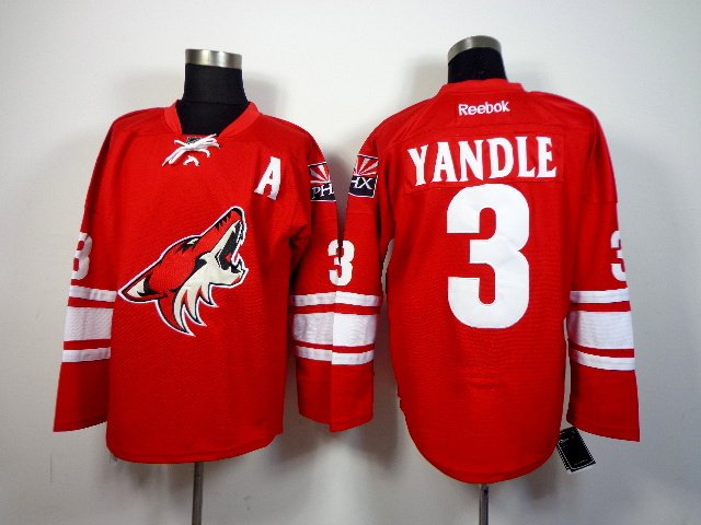 Coyotes 3 Keith Yandle Red Reebok Jersey