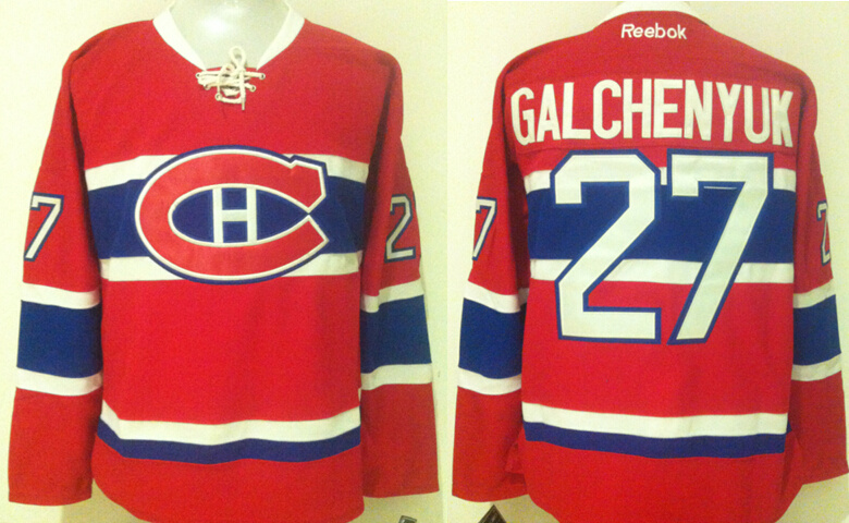 Canadiens 27 Alex Galchenyuk Red Reebok Jersey
