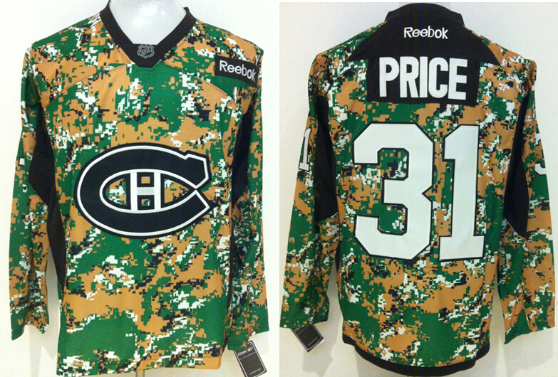 Canadiens 31 Carey Price Digital Camo Veteran's Day Reebok Jersey