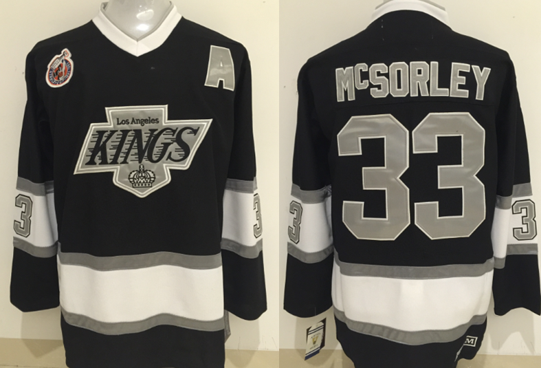 Kings 33 Marty McSorley Black CCM Jersey