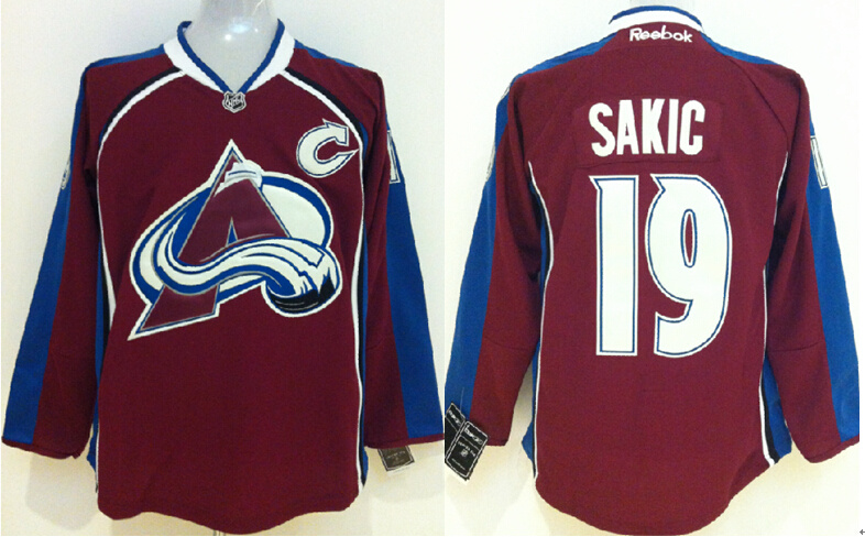 Avalanche 19 Joe Sakic Red Reebok Jersey