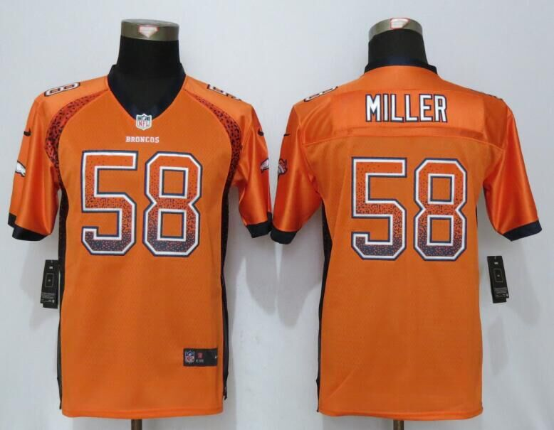 Nike Broncos 58 Von Miller Orange Youth Drift Fashion Jersey