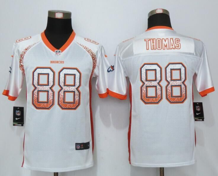 Nike Broncos 88 Demaryius Thomas White Youth Drift Fashion Jersey