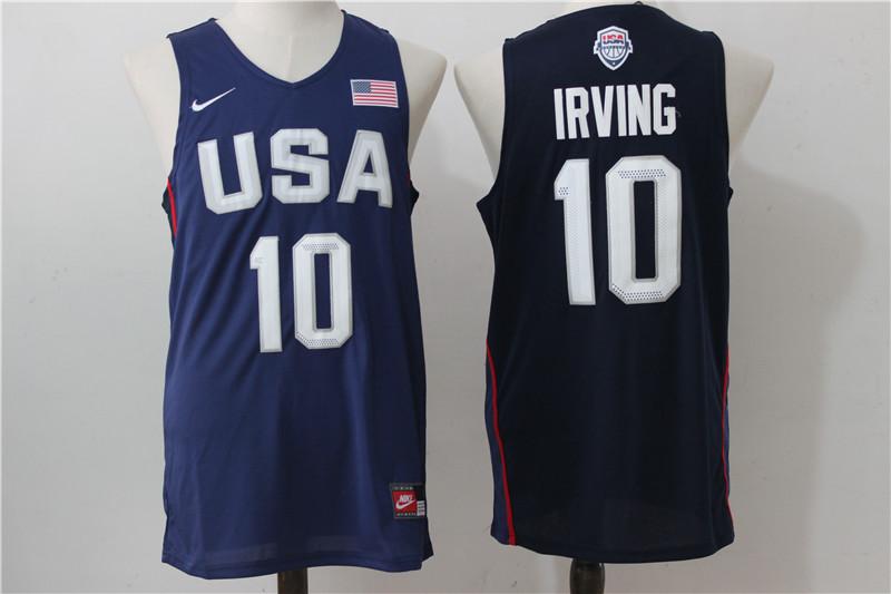 USA Basketball 10 Kyrie Irving Royal Nike Rio Elite Stitched Jersey