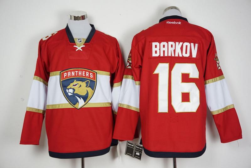 Panthers 16 Aleksander Barkov Red Reebok Jersey
