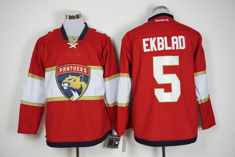 Panthers 5 Aaron Ekblad Red Reebok Jersey