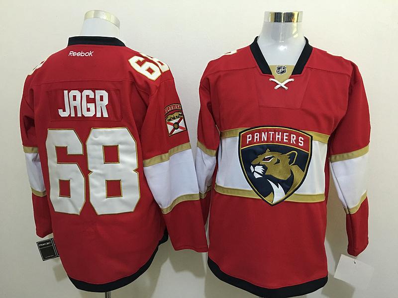Panthers 68 Jaromir Jagr Red Reebok Jersey