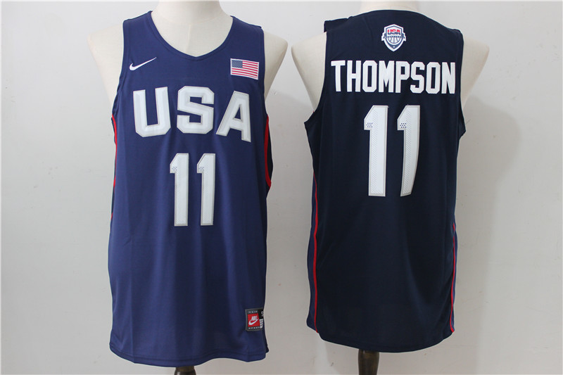 USA Basketball 11 Klay Thompson Royal Nike Rio Elite Stitched Jersey