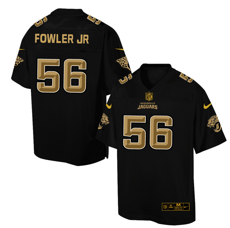 Nike Jaguars 56 Dante Fowler JR. Pro Line Black Gold Collection Elite Jersey