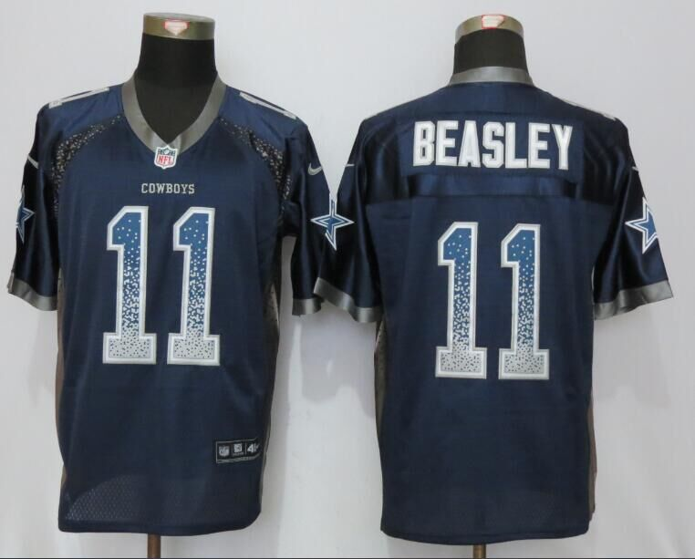 Nike Cowboys 11 Cole Beasley Blue Drift Fashion Elite Jersey