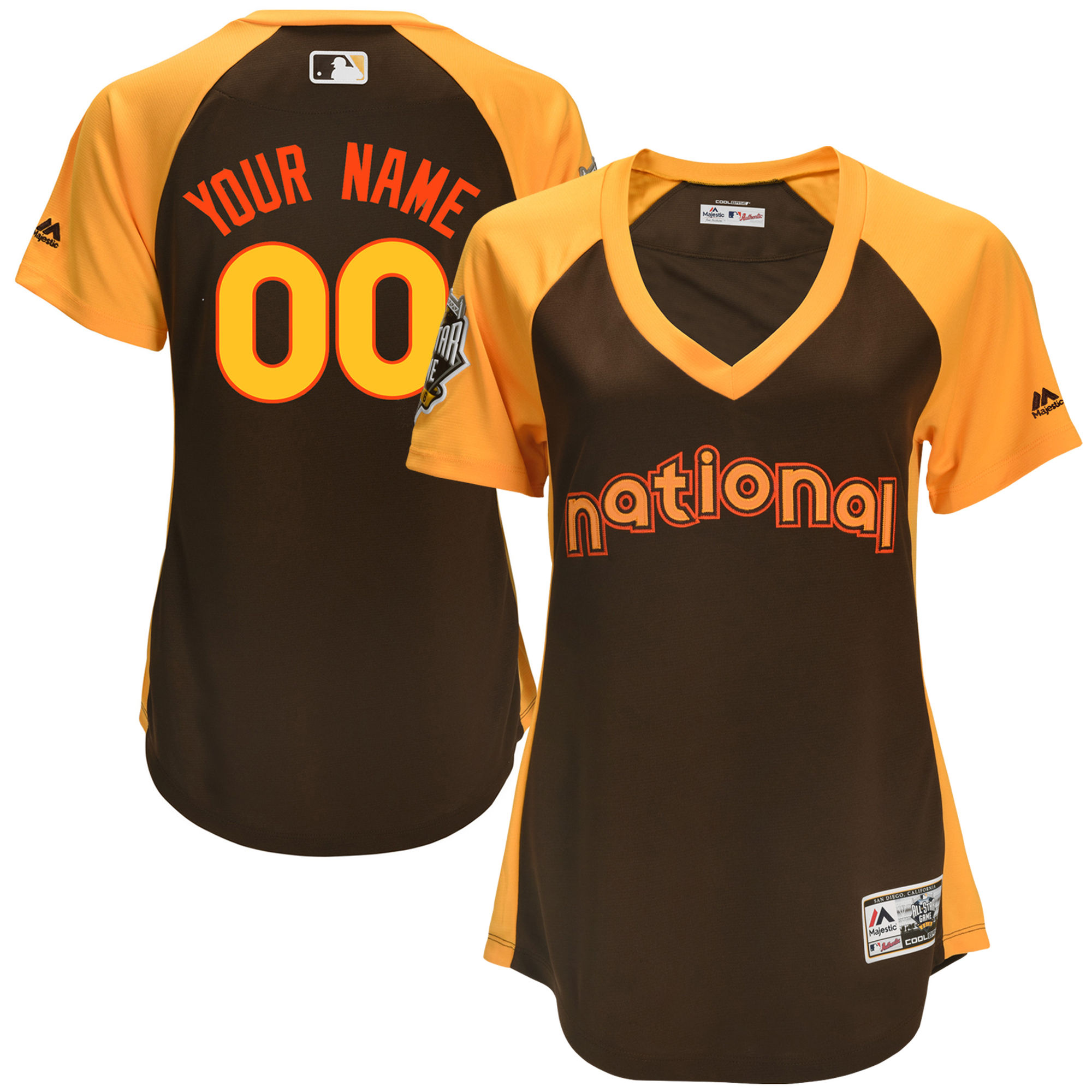 National League Brown Women 2016 All-Star Game Cool Base Batting Practice Player Customized Jersey