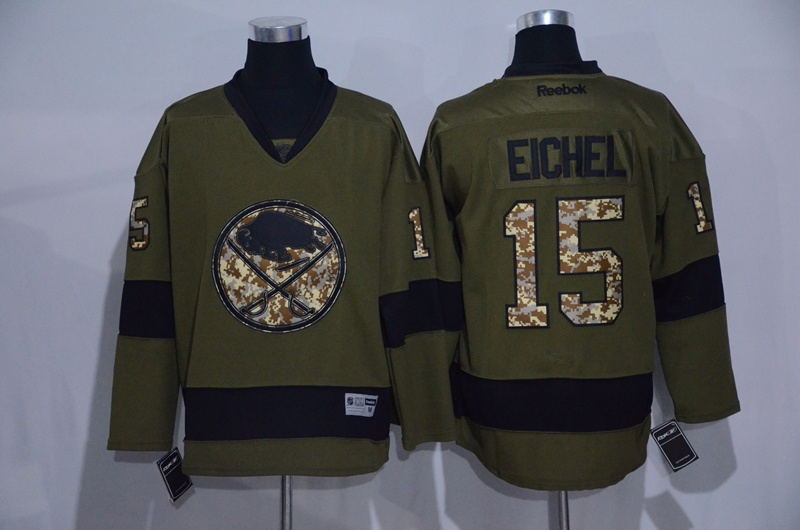Sabres 15 Jack Eichel Green Salute To Service Reebok Jeresey