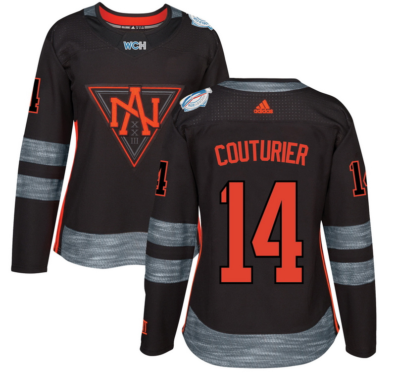 North America 14 Sean Couturier Black Women World Cup of Hockey 2016 Player Jersey