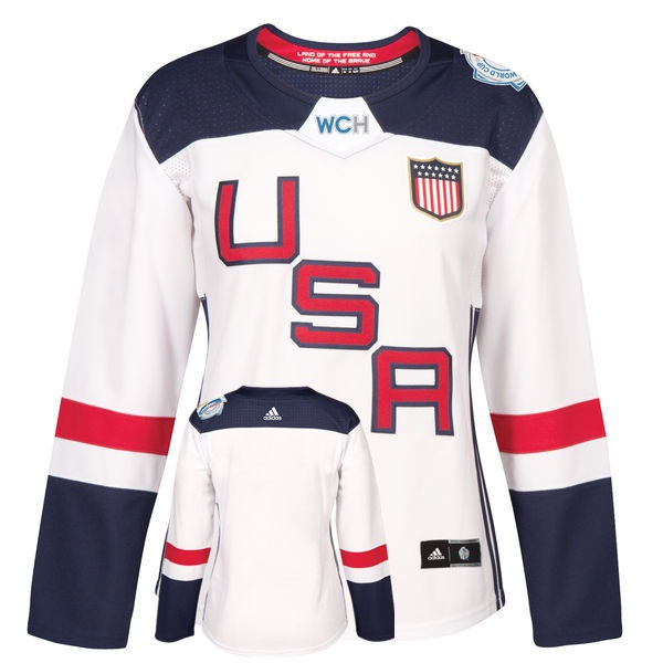 USA Blank White Women 2016 World Cup of Hockey Player Jersey