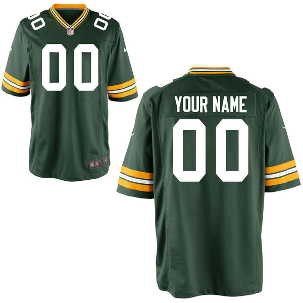 abde8530e Nike Green Bay Packers Green Youth Game Customized Jersey