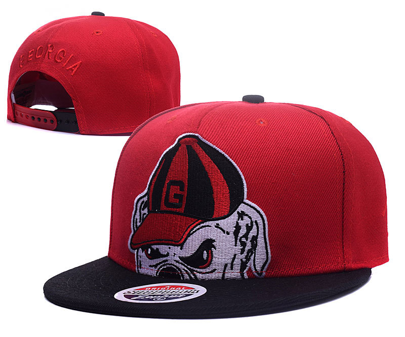 Georgia Bulldogs Fresh Logo Red Adjustable Hat GS