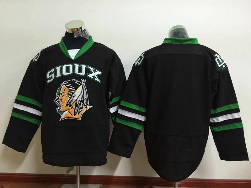 North Dakota Fighting Sioux Blank Black Hockey Jersey