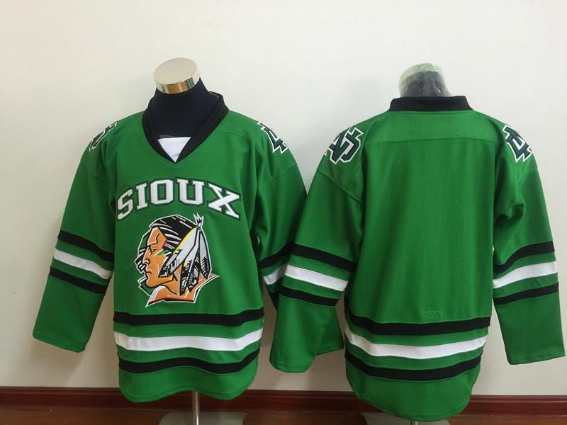 North Dakota Fighting Sioux Blank Green Hockey Jersey