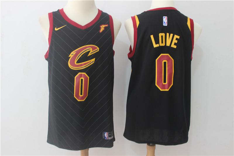 Cavaliers 0 Kevin Love Black Nike Swingman Jersey