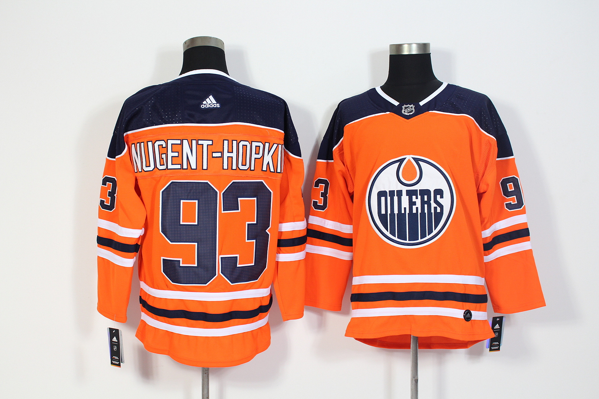 Oilers 93 Ryan Nugent-Hopkins Orange Adidas Jersey