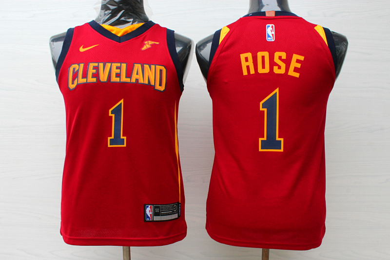 Cavaliers 1 Derrick Rose Red Youth Nike Replica Jersey