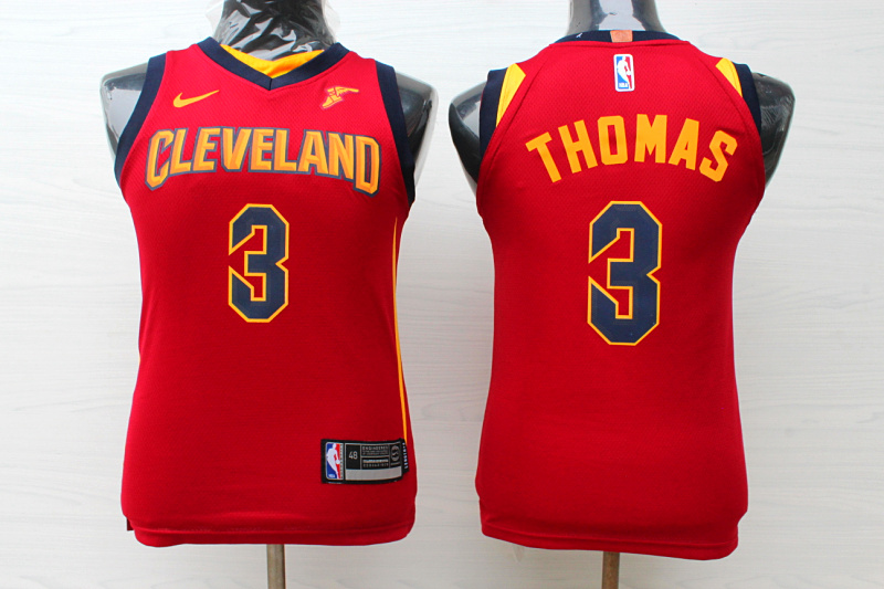 Cavaliers 3 Isaiah Thomas Red Youth Nike Replica Jersey