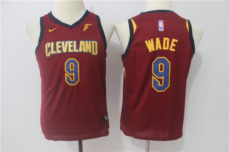 Cavaliers 9 Dwyane Wade Red Youth Nike Swingman Jersey