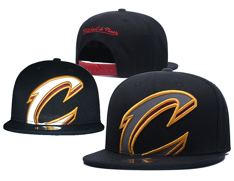 Cavaliers Big Logo Black Reflective Snapback Adjustable Hat GS