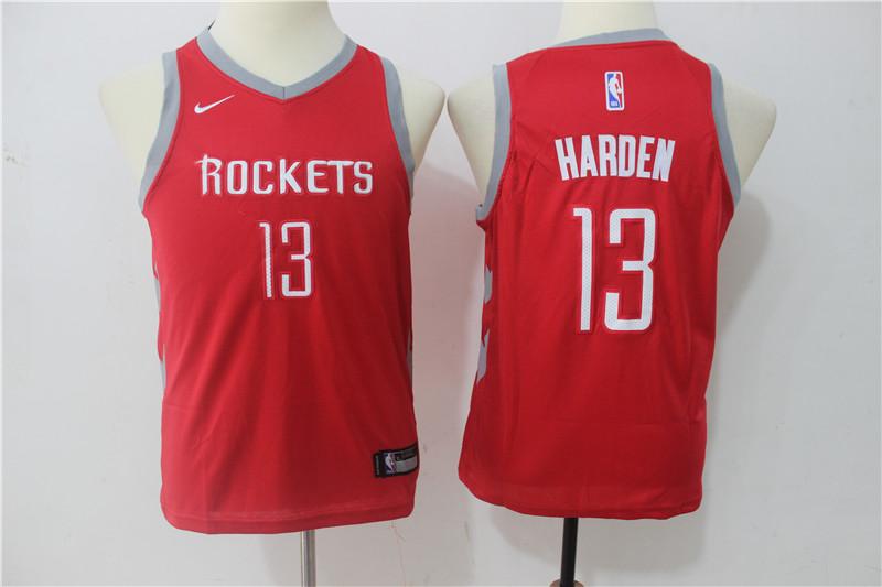Rockets 13 James Harden Red Youth Nike Swingman Jersey